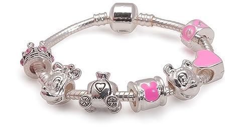 Bling Rocks Disney Dreams , Braccialetto in argento in stile Pandora con  charm per bambini Disponibile