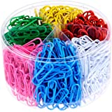 Selizo 500 Pieces Assorted Color Paper Clips with Medium and Jumbo Size (28 mm, 50 mm)