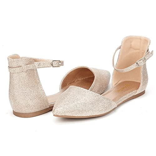 DREAM PAIRS FLAPOINTED Women's Casual D'orsay Pointed Plain Ballet Comfort Soft Slip On Flats Shoes ...