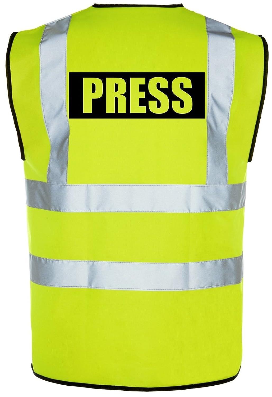 Corporate Togs Group Prensa Hi-Vis high-Viz visibilidad chaleco de seguridad//chaleco amarillo//naranja