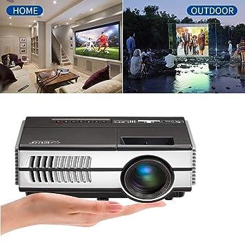 Mini Portátil HD LED proyector 1500 Lumen Multimedia Inicio Cine ...