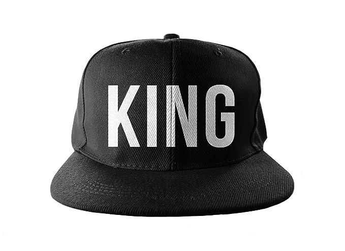 King Cool Swag Hip Hop impresión Snapback Sombrero Gorra Tapa Negro   Amazon.es  Ropa y accesorios 3b20a319256