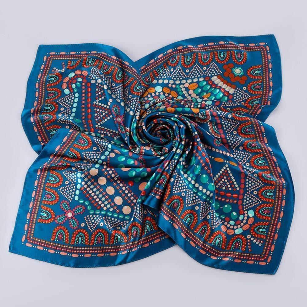 bluee Lingyuansale Women's silk scarves 100% silk silk scarf Perfectly expresses unique temperament Soft Women Scarf