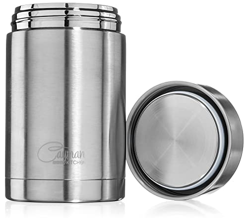 Cayman Kitchen 470 ml Thermal Insulated Stainless Steel Food Flask Container - For Lunch On The Go
