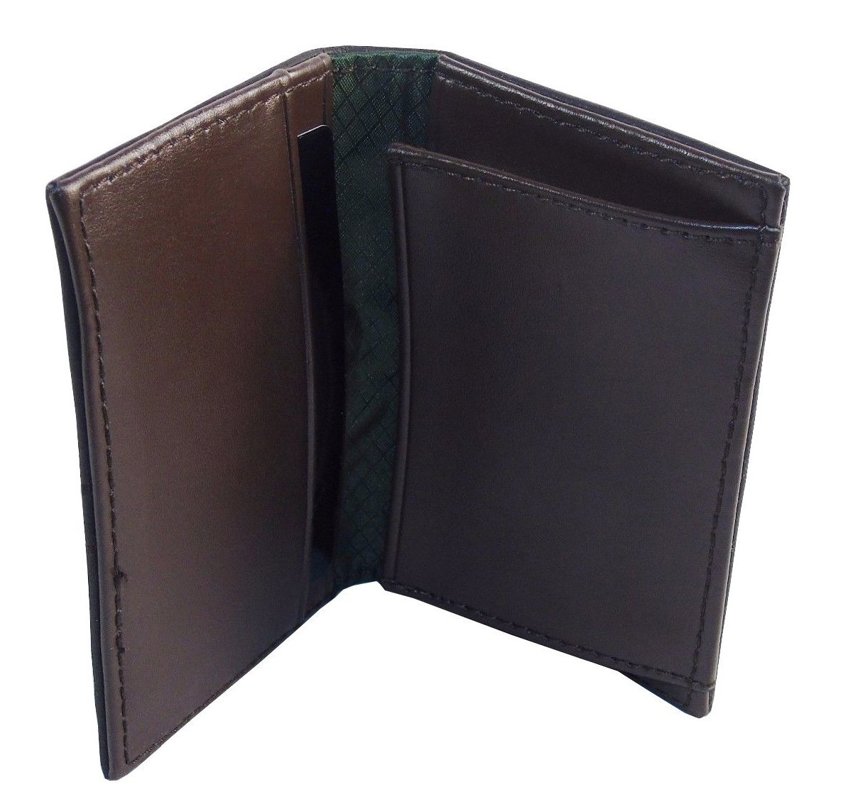 Amazon.com: Buxton Business Card Wallet - Chocolate Brown, Faux ...