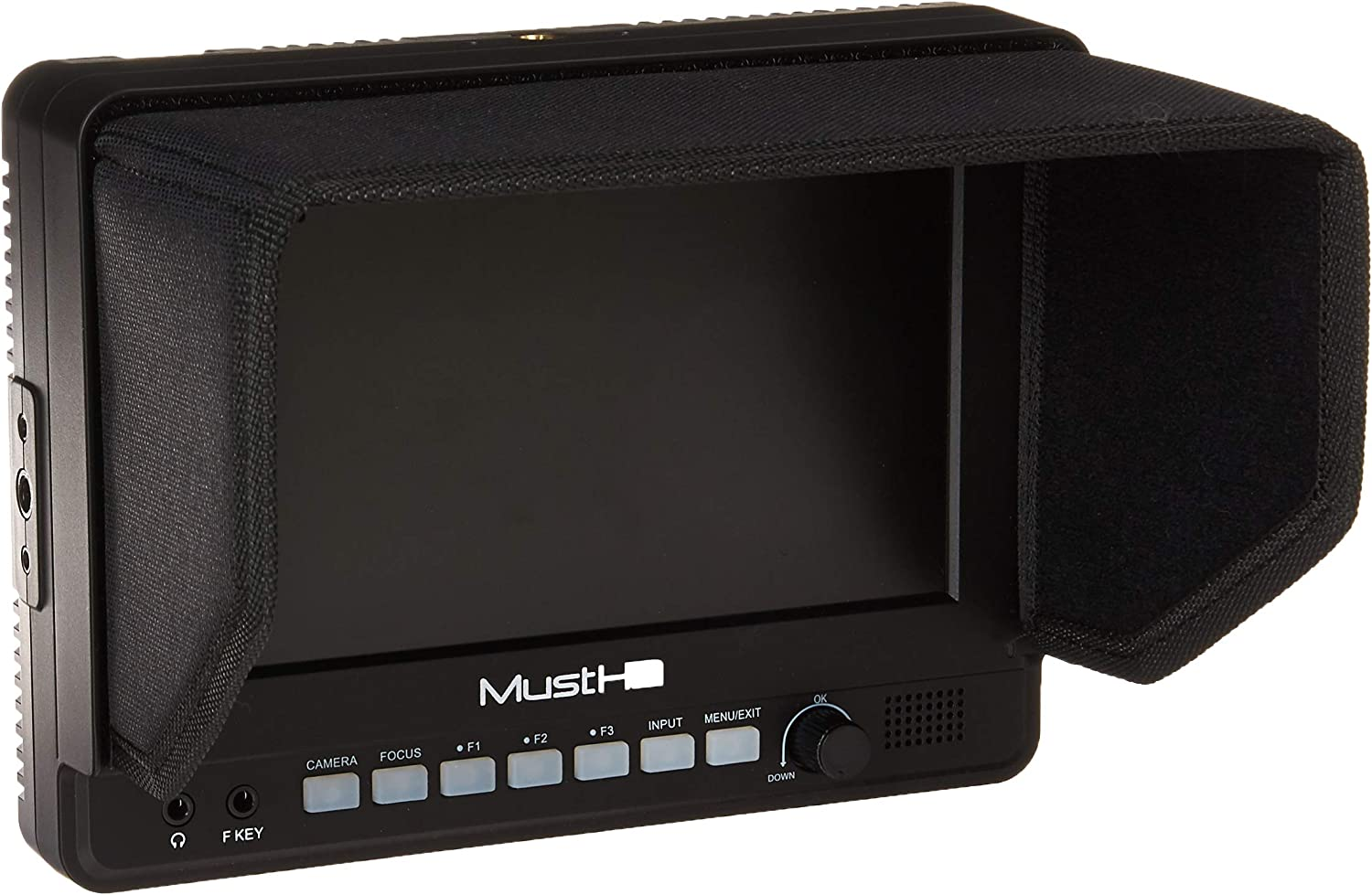 Support 1080P MustHD M700H 7-Inch IPS On-Camera Field Monitor with HDMI in and Out