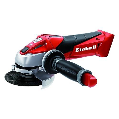 Einhell Expert TE-AG 18 Li Radial angular sin cable, hoja de sierra, 8500 rpm, 18 V, 12 W, color rojo y negro (ref. 4431110)