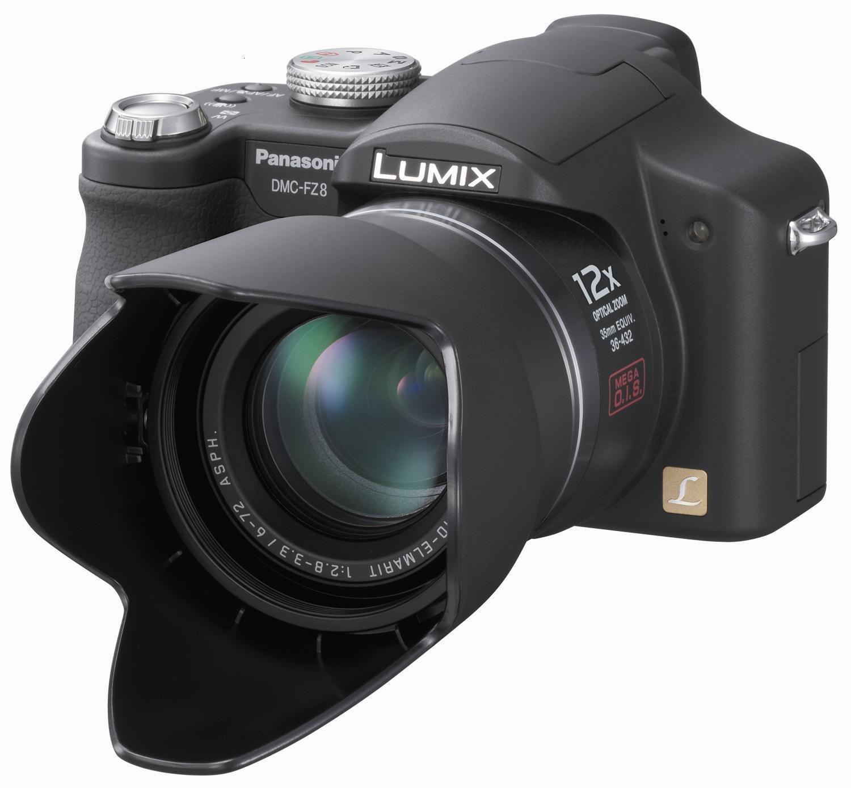 Amazon.com : Panasonic Lumix DMC-FZ8K 7.2MP Digital Camera with 12x Optical  Image Stabilized Zoom (Black) : Point And Shoot Digital Cameras : Camera &  Photo