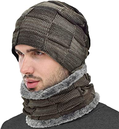 heekpek Gorro Invierno Hombre con Bufanda, Calentar Sombreros ...