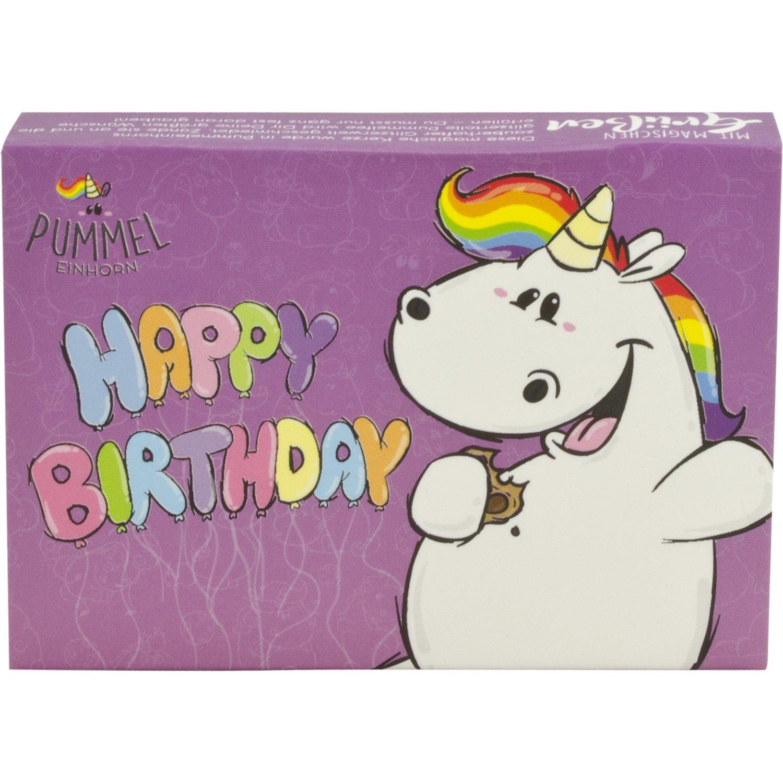 Pummeleinhorn Grusskerze Happy Birthday Lila United Labels
