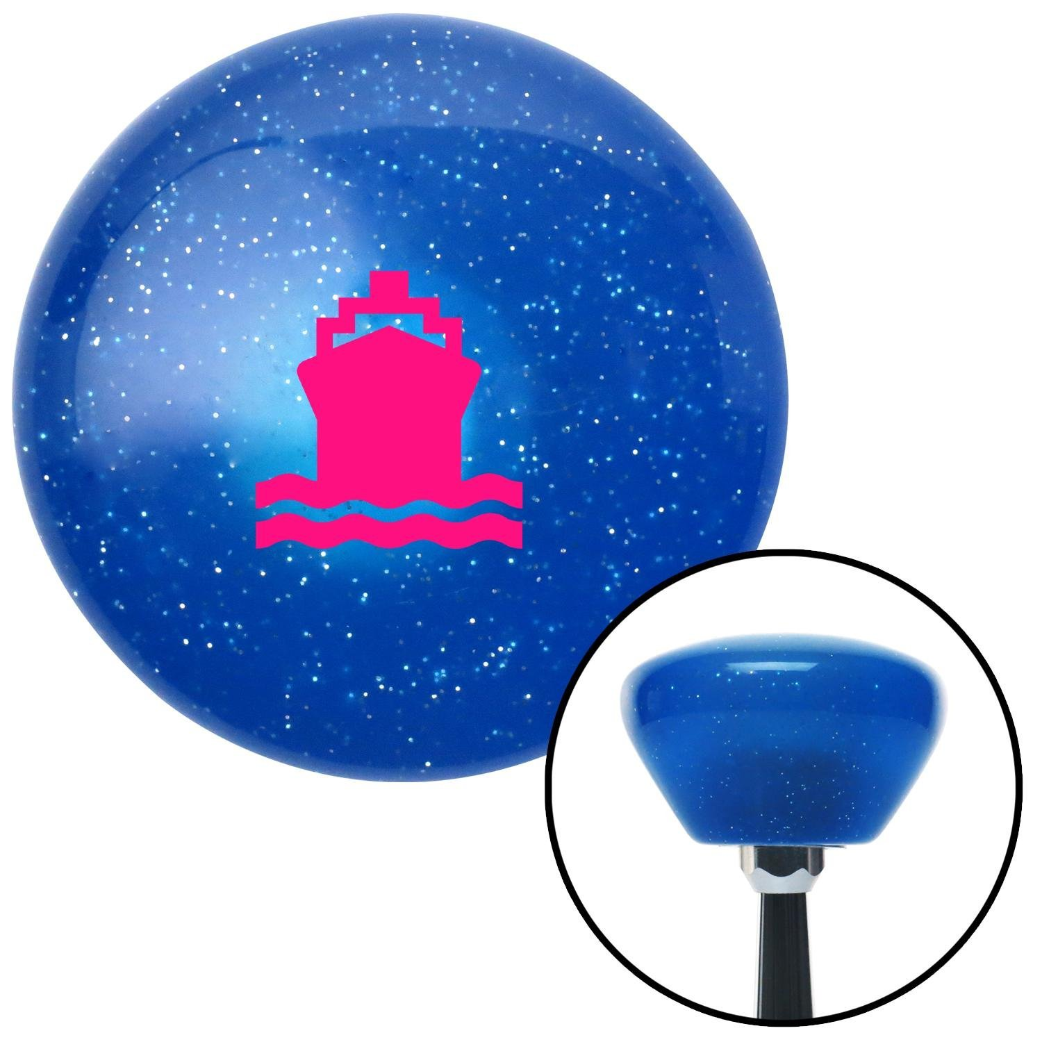 Pink Boat American Shifter 190681 Blue Retro Metal Flake Shift Knob with M16 x 1.5 Insert