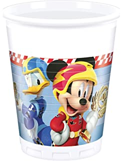 6 Vasos de plástico 200 ml Mickey y los superpilotos
