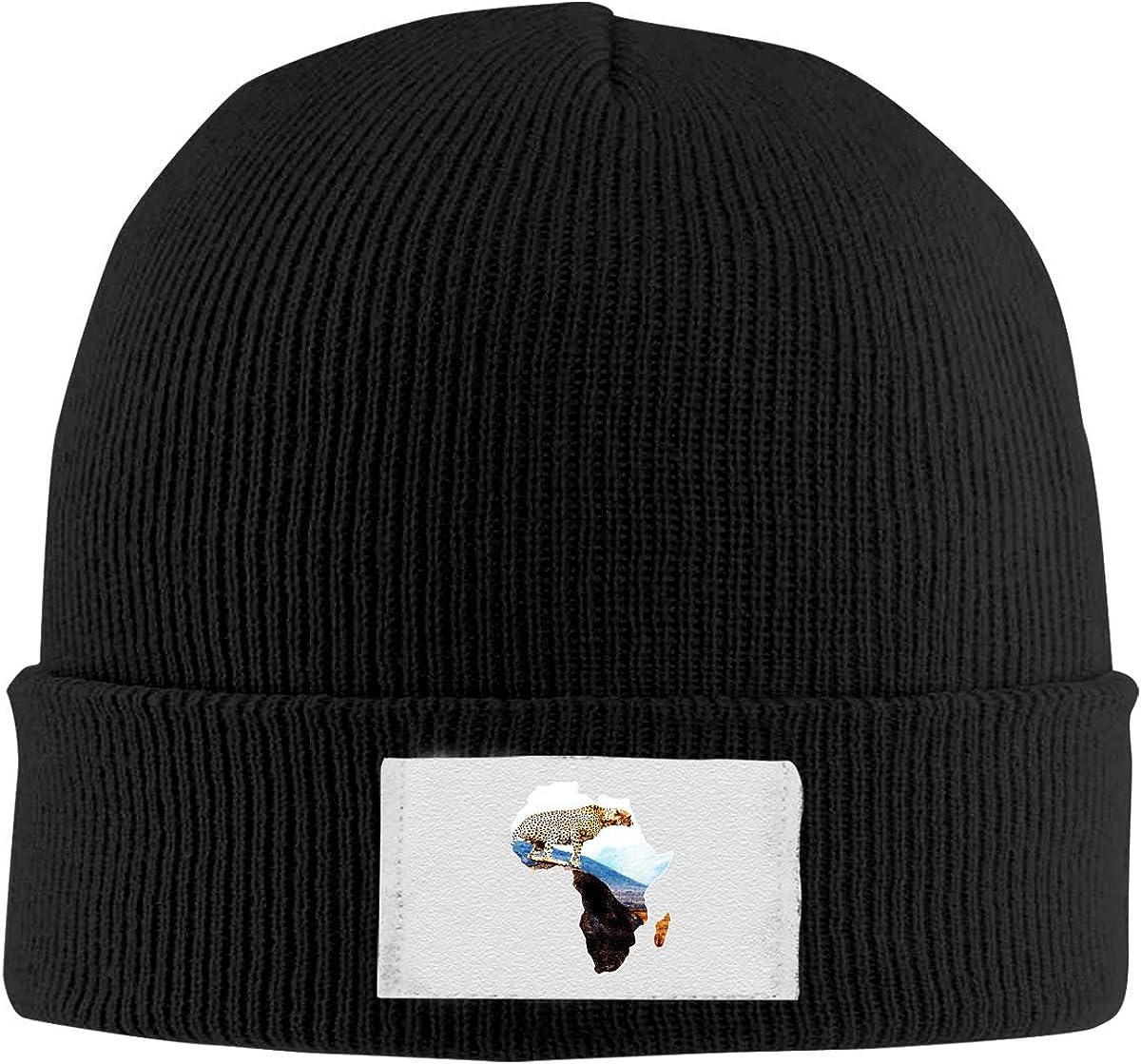 Africa Wildlife Leopard Knitted Hats Beanie Cap Fashion Unisex Winter