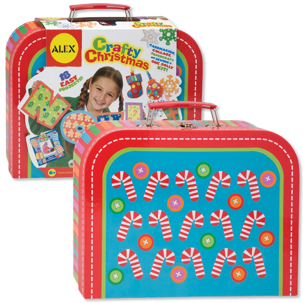 ALEX Toys Crafts Crafty Christmas Kit with Suitcase