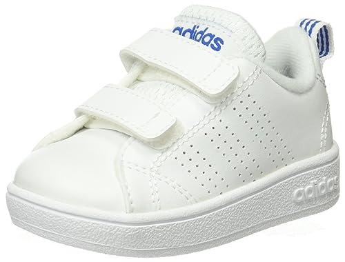 Adidas Vs Advantage Clean CMF Inf, Zapatillas de Estar por casa Bebé Unisex, Blanco Ftwbla/Azul 000, 20 EU: Amazon.es: Zapatos y complementos