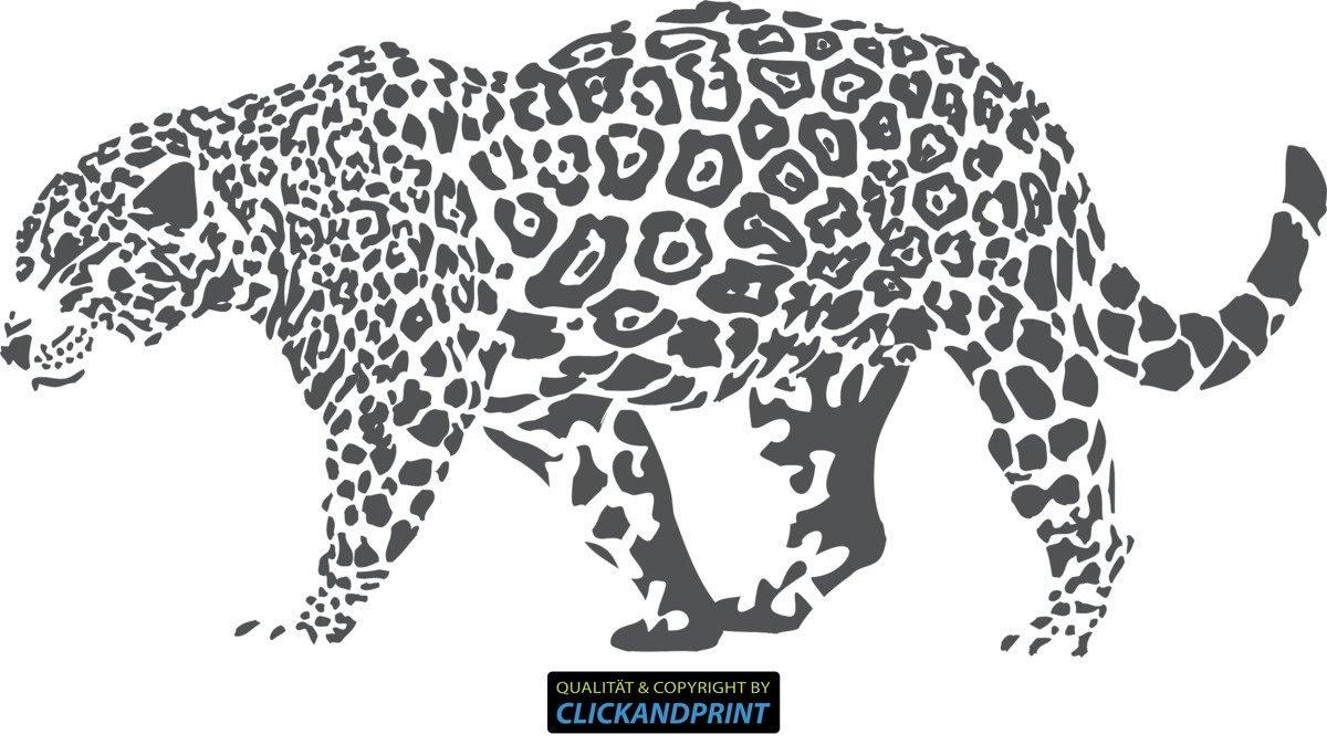 CLICKANDPRINT Aufkleber Aufkleber Aufkleber » Leopard, 150x74,4cm, Türkis • Wandtattoo   Wandaufkleber   Wandsticker   Wanddeko   Vinyl B073X72XQL Wandtattoos & Wandbilder 784793