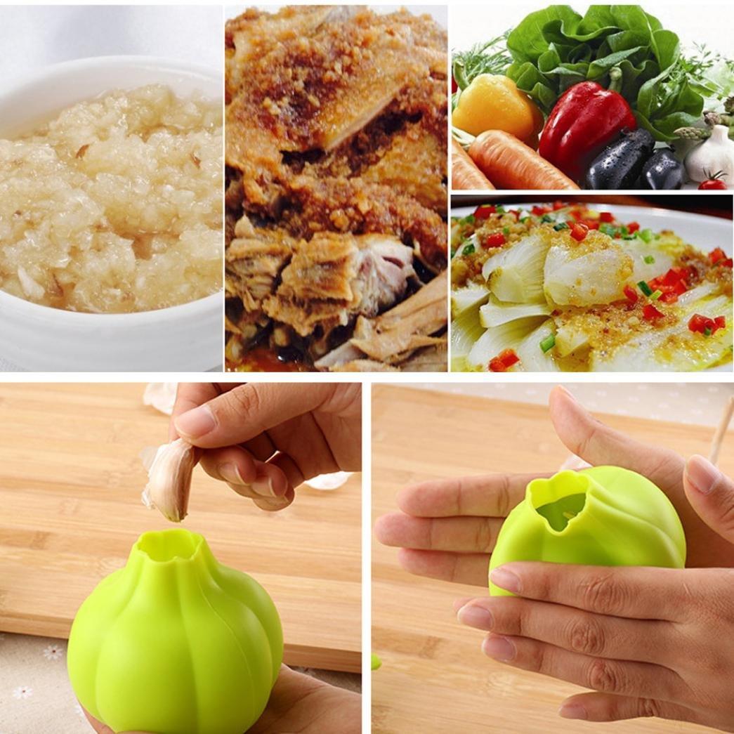 Iuhan New Silicone Press Garlic Crusher Kitchen Gadget Vegetable Peeler Home Tool