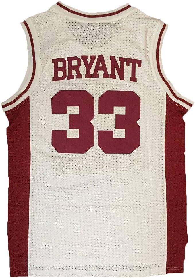 """Amazon.com: jerseyfame Hombres de baloncesto """"33 Bryant ..."""
