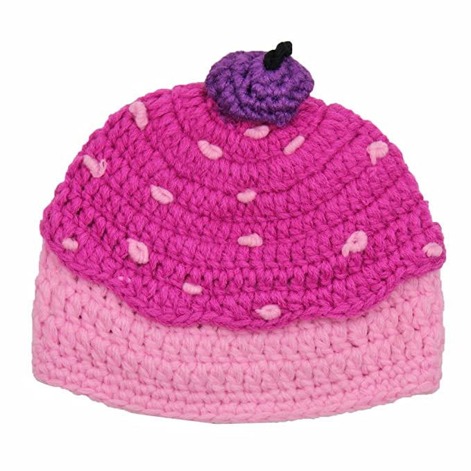 093f865e1 crochet cupcake hat in pink & purple by juDanzy (Small 4-12 Months ...