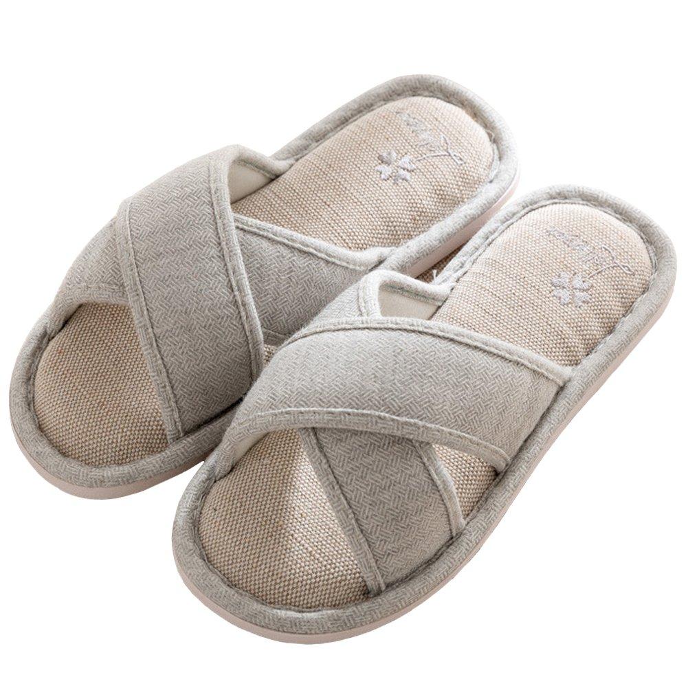SCIEU Damen Hausschuhe Baumwolle Pantoffeln Grau 2018 Letztes Modell  Mode Schuhe Billig Online-Verkauf