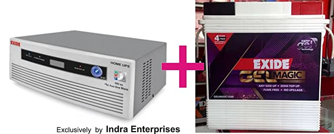 Exide 850Va Home Ups + 150Ah Battery at amazon