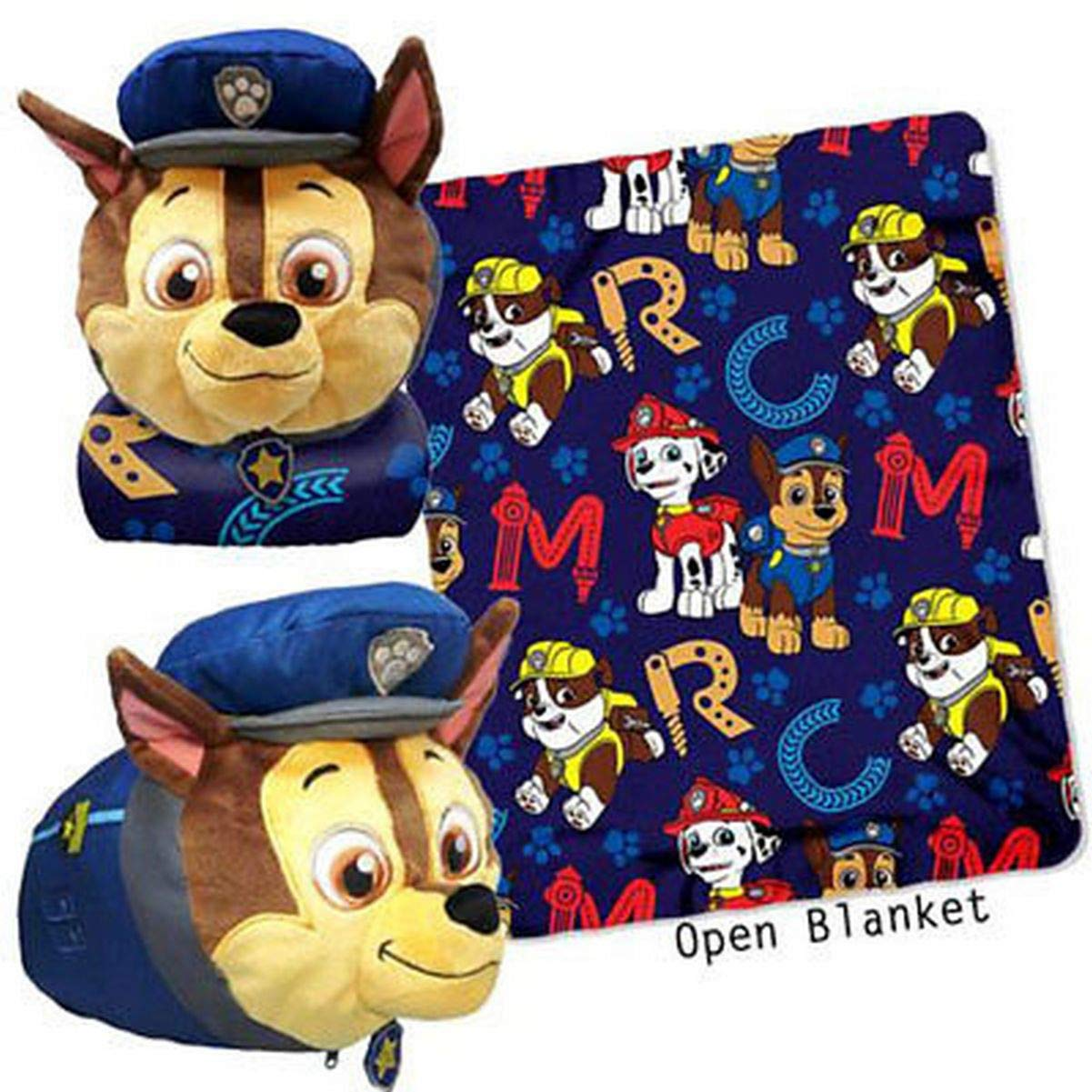 Paw Patrol Rescue ABC Mush' Um Zip Pillow and Throw Set
