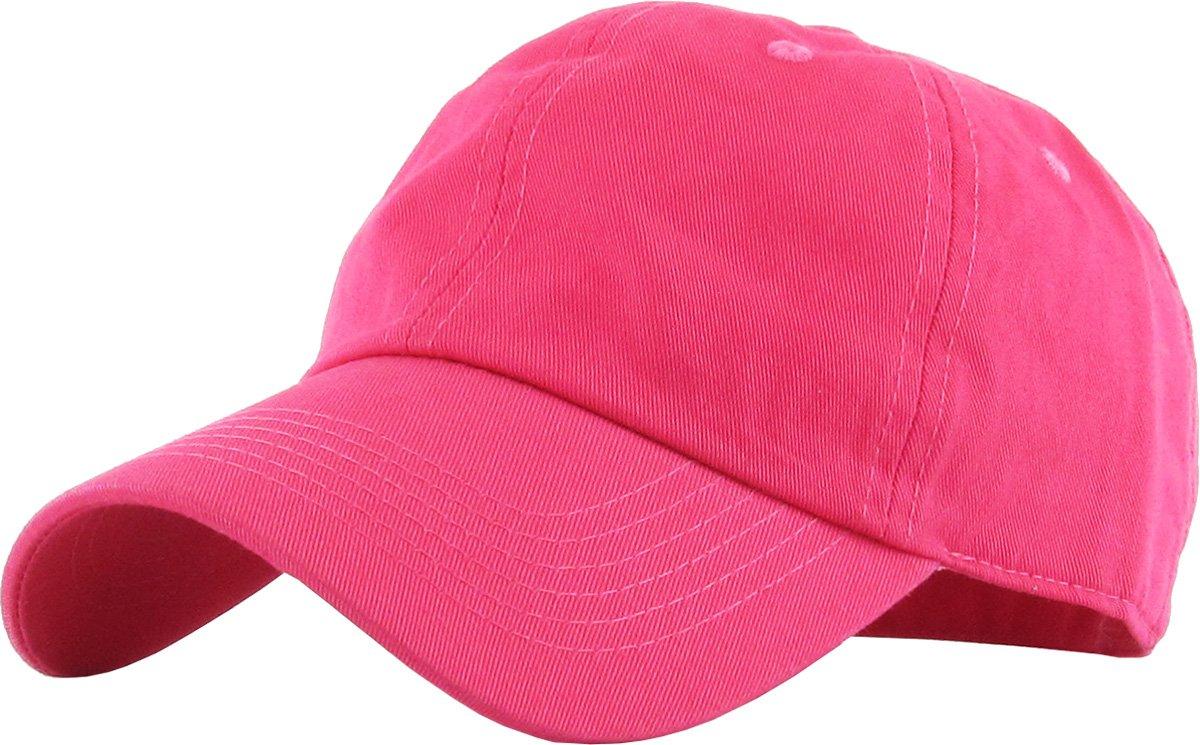 672c47990c Galleon - KB-LOW HPK Classic Cotton Dad Hat Adjustable Plain Cap. Polo  Style Low Profile (Unstructured) (Classic) Hot Pink Adjustable