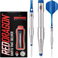 Red Dragon Scorpions - 85% Tungsten Steel Darts with Shafts, Flights, Wallet & Red Dragon Checkout Card