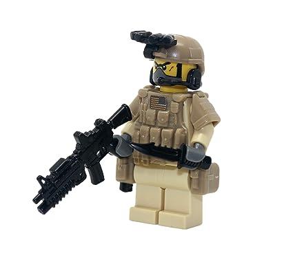 Modern Brick Warfare Navy Seal Team 6 Desert Commando Custom Minifigure