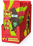 BEAR Sour - Real Fruit Yoyos - Strawberry-Apple,  No added Sugar, All Natural, non GMO, Gluten Free, Vegan - Healthy on-the-go snack for kids & adults, 12 Count