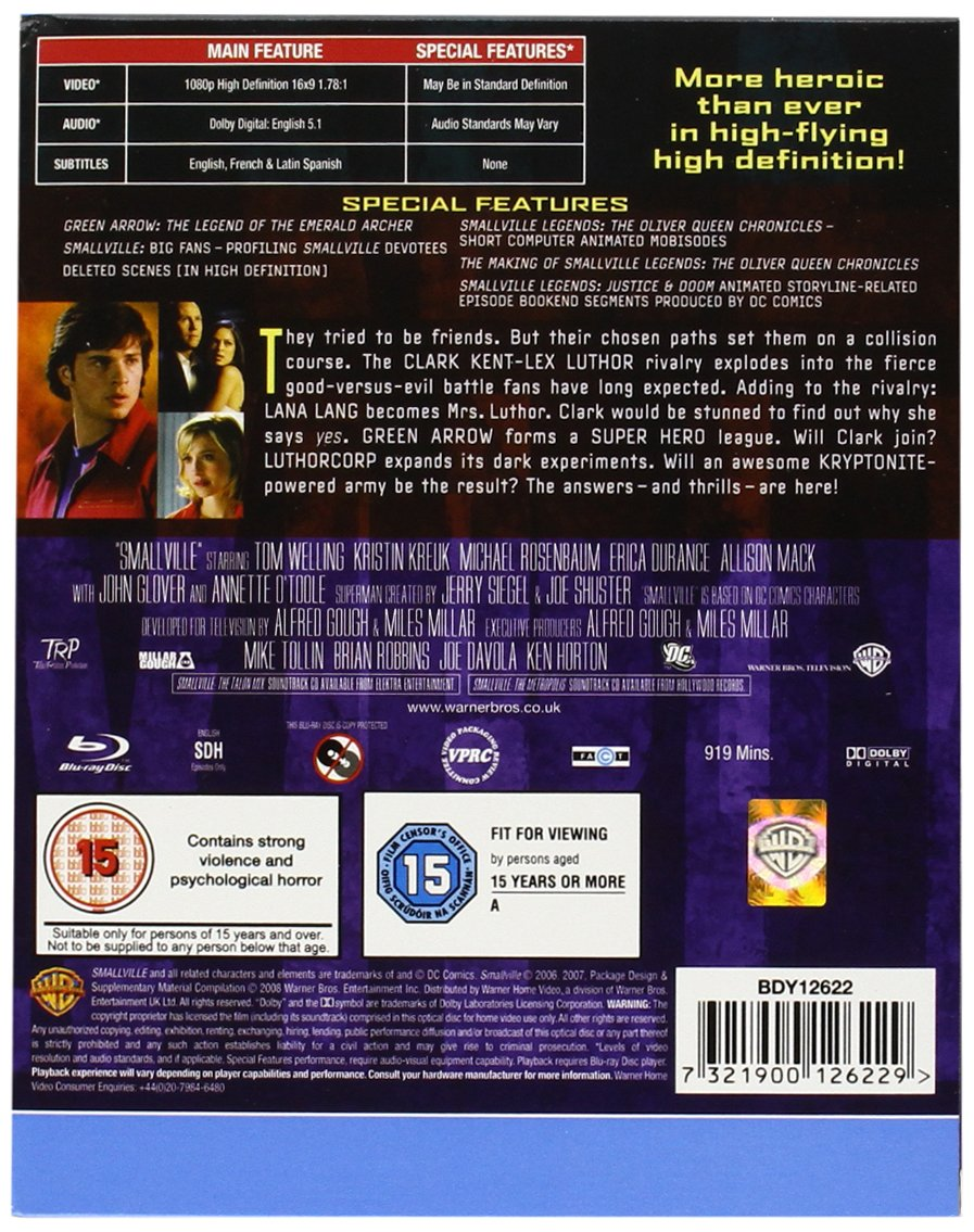 Smallville_(TV_Series) [Reino Unido] [Blu-ray]: Amazon.es ...