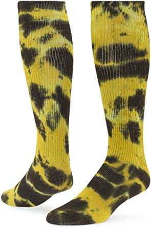 Hand Dyed Tie Dyed Quarter Length Athletic Socks Lilly Pad