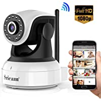 Sricam Cámara IP 1080P, Cámara Vigilancia WiFi Interior