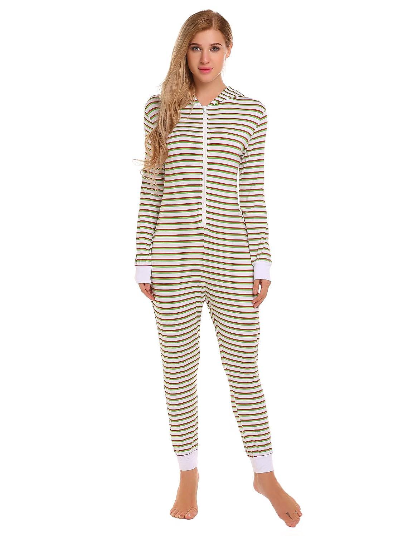 ac8b170449e6 Womens Two Piece Footed Pajamas
