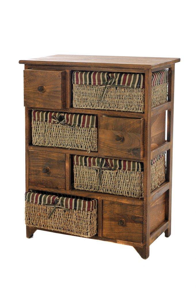wicker cabinet chest kitchen bed bathroom hallway storage unit drawer