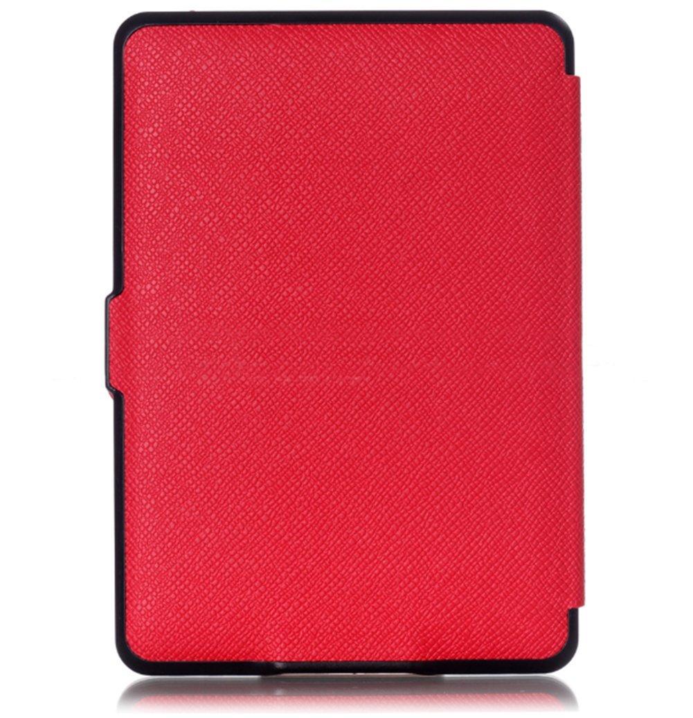 Xuxuou EasyAcc Kindle Paperwhite Housse,Etui Liseuse Kindle Paperwhite Ultra-Mince Etui Rose fonc/é /Étui en Cuir pour Kindle Paperwhite1//2//3