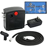 Zeny Airbrush Compressor Kit Dual Action Spray Air Brush Set Tattoo Nail Tool (TC-100K)