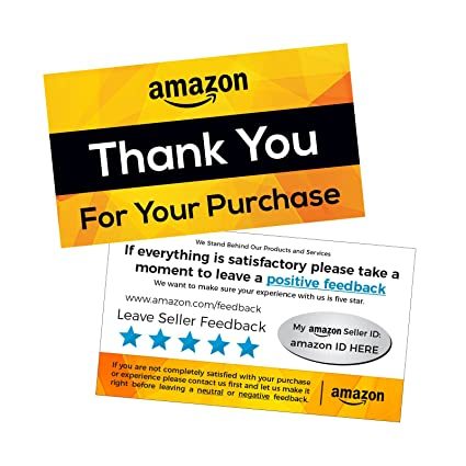 Amazon Com 1000 Custom Amazon Seller Review Cards And Thank You