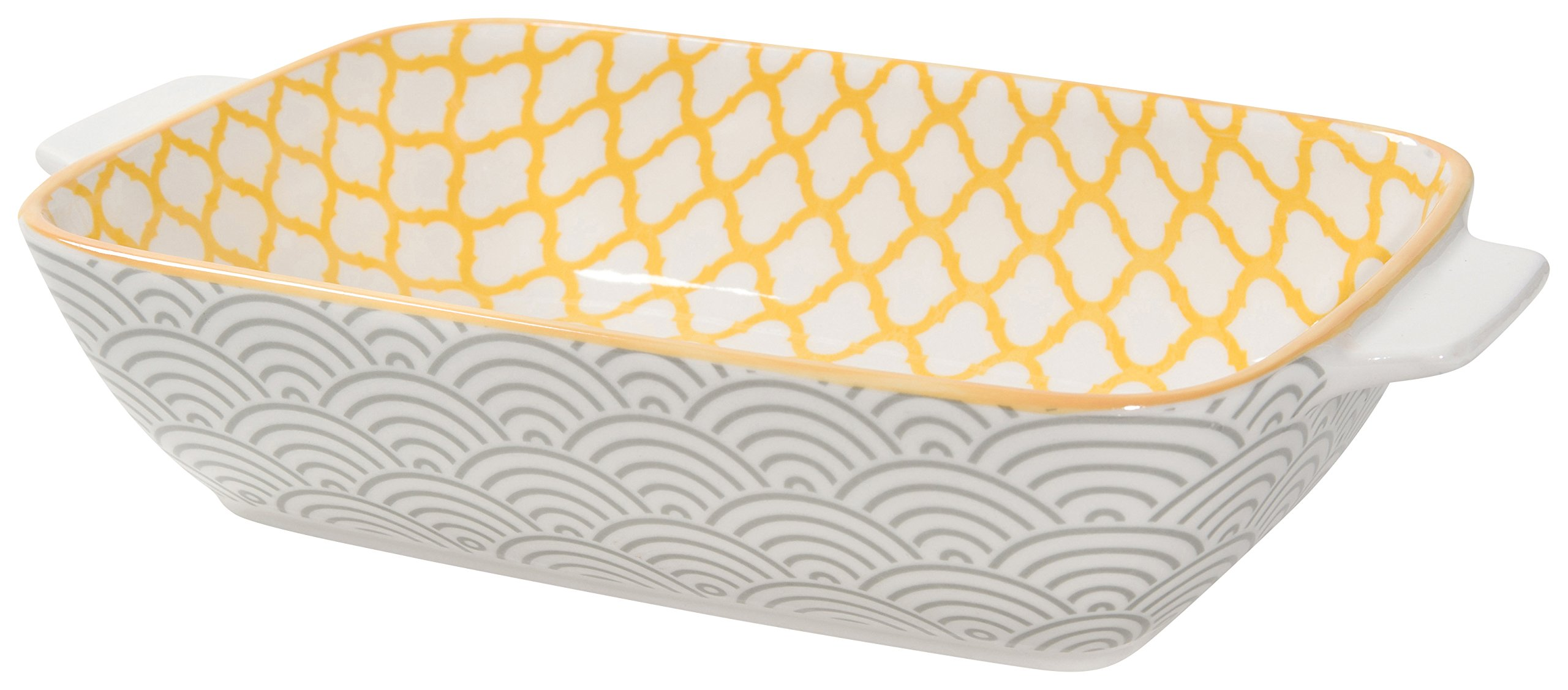 Now Designs Stamped Baking Dish, 4.5 inches by 7.5 Inches,Sunrock Design by Now Designs