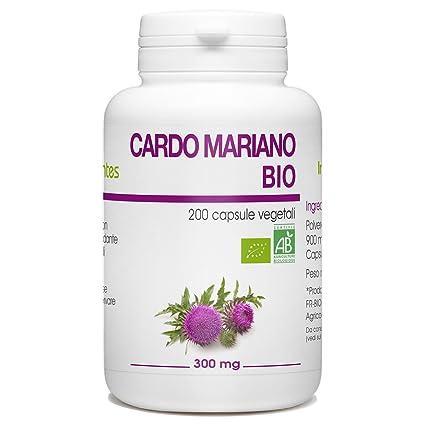cardo mariano  Cardo Mariano Bio - Silybum marianum - 300mg - 200 capsule vegetali ...