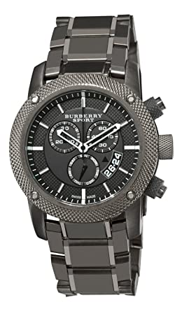 8784af9fcbc Image Unavailable. Image not available for. Color  Burberry Men s BU7716 Chrono  Sport Gray Chronograph Dial Watch