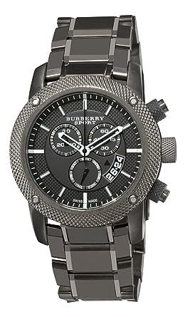 0edcdceb391 Amazon.com  Burberry Men s BU7716 Chrono Sport Gray Chronograph Dial ...