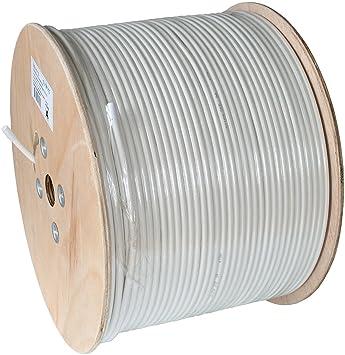 Axing SKB09403 500m Blanco, Madera - Cable coaxial (500 m, Blanco, Madera
