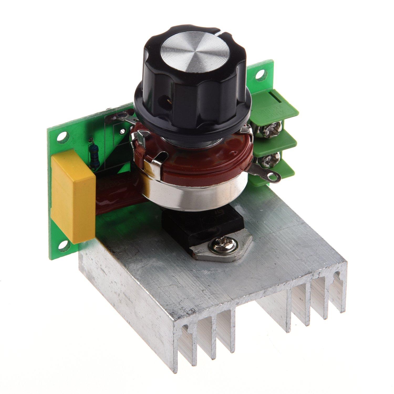 SODIAL(R) Regulador Controlador Tension Voltaje Silicio Alta Potencia 4000W 60-220V