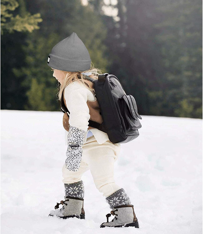 DRTGRHBFG Beanie Hat for Kids Vintage Winter Outdoor Sport Ski Knit Cap for Girls Boys