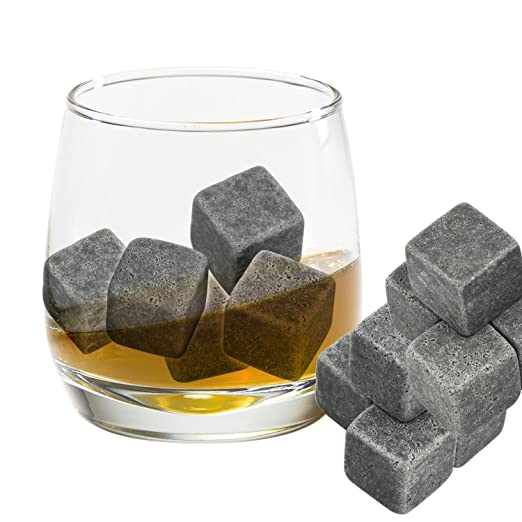 56 opinioni per Grenhaven- Set da 9 pietre da whisky in pietra ollare naturale- sassi
