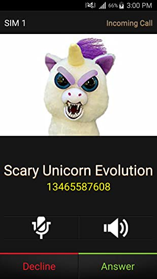 Amazon com: Instant-Real Live Fake Call From Scary Unicorn Evolution