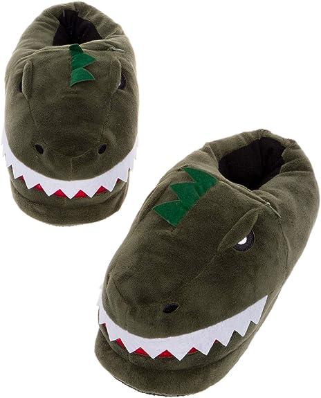 Childrens Glow In the Dark Dinosaur Slippers