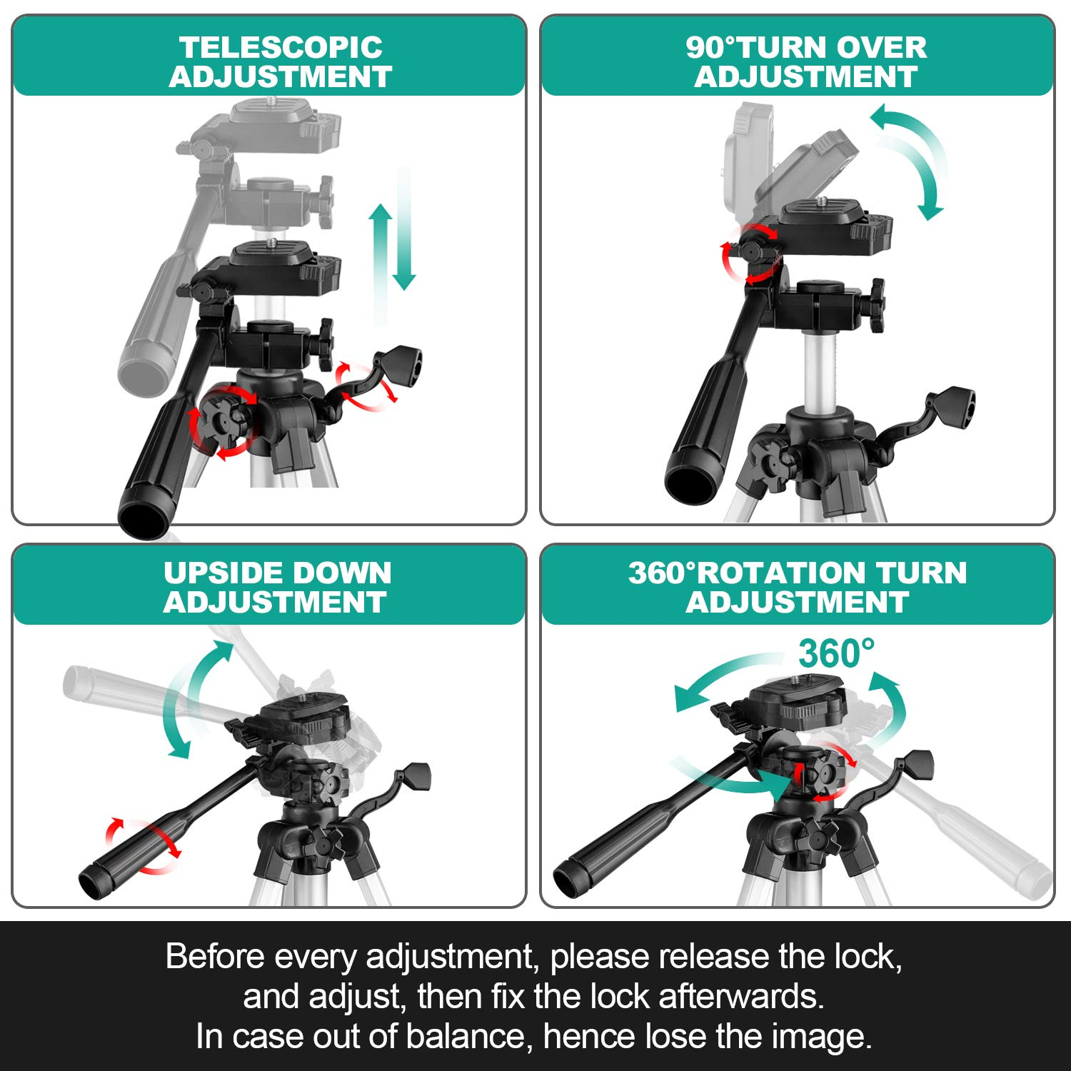 MAXLAPTER Telescope for Kids and Beginners, 70mm Travel Refractor Telescope for Astronomy with Adjustable Tripod, Smartphone Adapter, Camera Shutter Wire Control, Backpack by MAXLAPTER (Image #8)