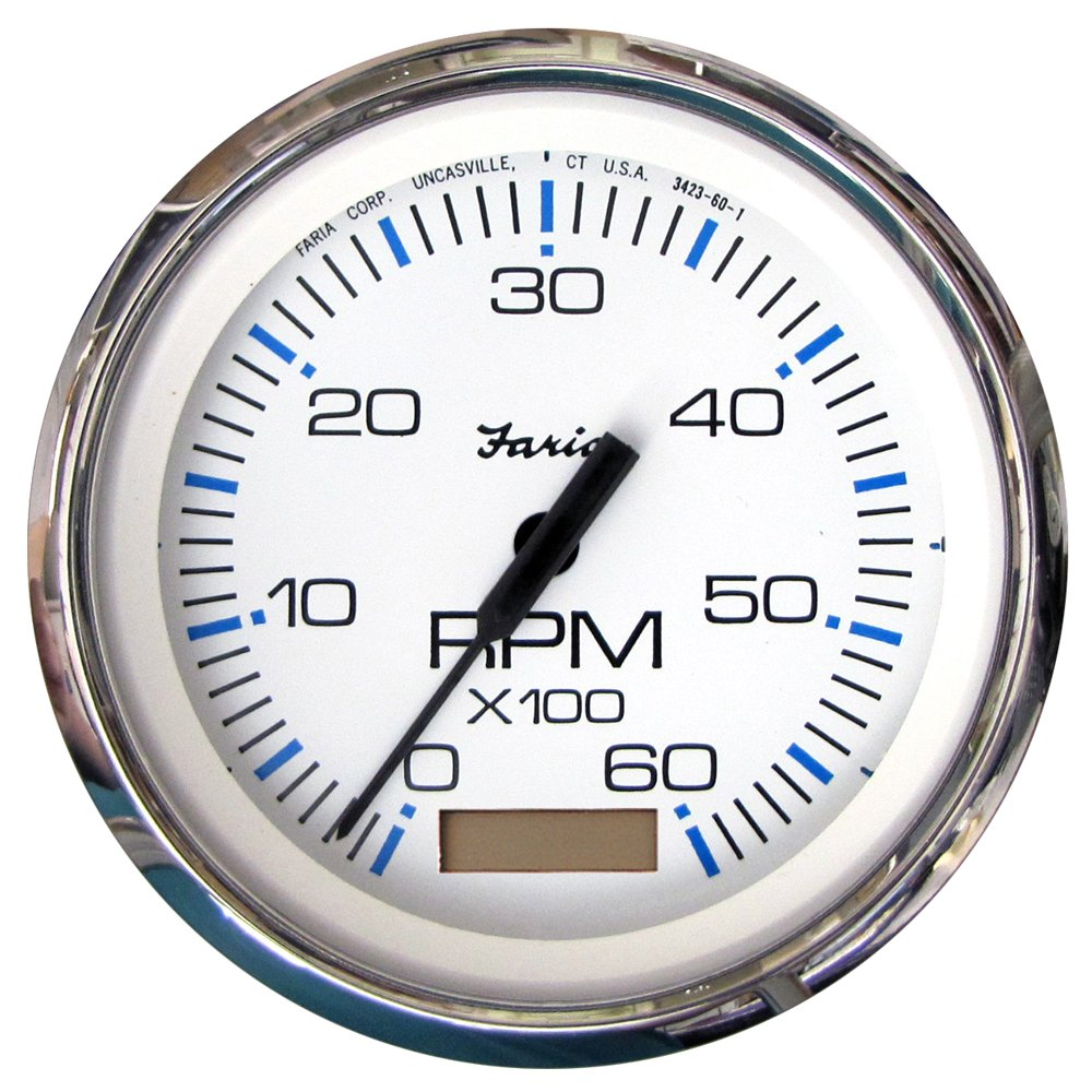71Qh4vLtxyL._SL1000_ amazon com faria beede instruments 33832 4 in chesapeake white Faria Tachometer Wiring Diagram at gsmportal.co